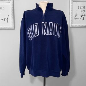 3/$15 Old Navy Size XL Dark Blue Half Zip Pullover